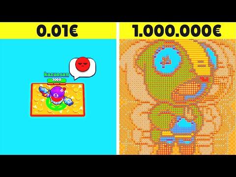 MAPPA DA 1€ vs MAPPA DA 1.000.000€ SU BRAWL STARS!! 💰