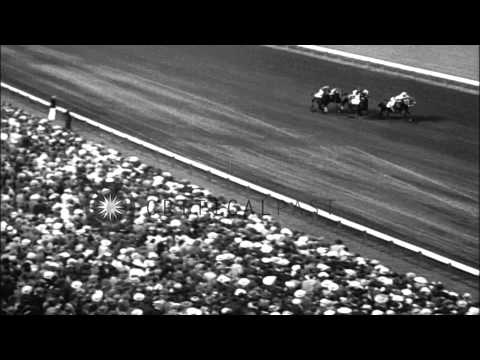 The 1938 Massachusetts Handicap horse race at Suffolk Downs in Boston, Massachuse...HD Stock Footage