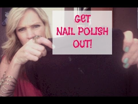 Getting Nail Polish Out of Clothes - YouTube