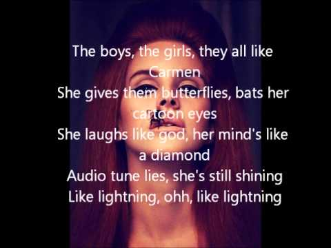 Lana Del Rey - Carmen karaoke w/lyrics