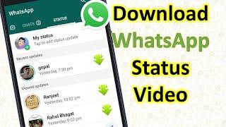 Whatsapp Status Video Download kaise kare   How to Download WhatsApp Status Video in Mobile Gallery