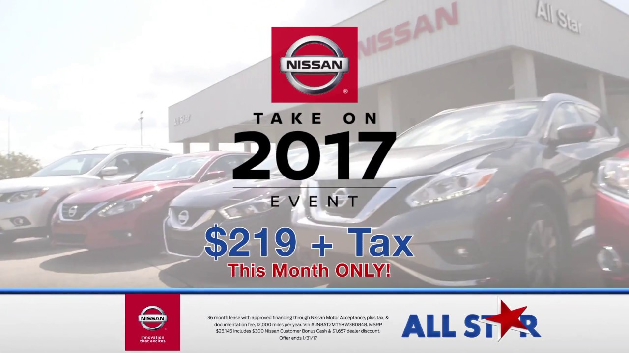 All Star Nissan - January 2017 Commercial - Take On 2017 Sales Event ...