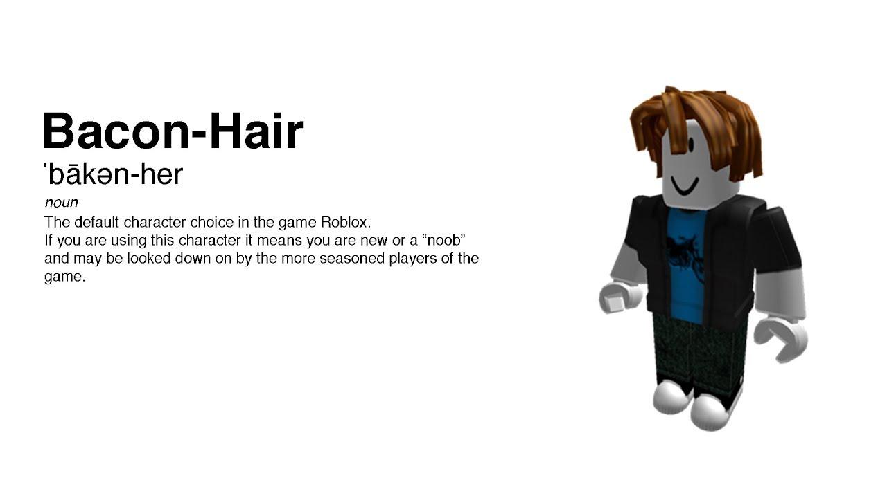 Roblox Bacon Hair Halloween Cosume YouTube