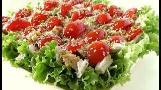 Салат з курки з салатом / Салат из курицы с салатом