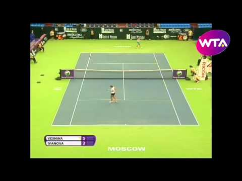 Elena Vesnina v Ekaterina Ivanova  WTA Moscow Highlights