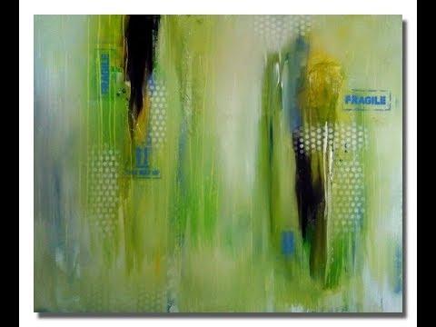 Abstract Painting Demo Abstrakte Malerei Für Anfänger