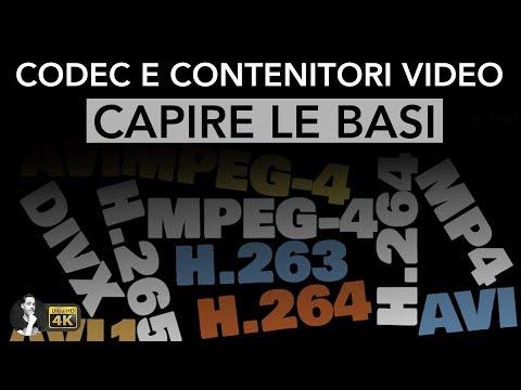 CODEC e CONTENITORI VIDEO   Capire le basi