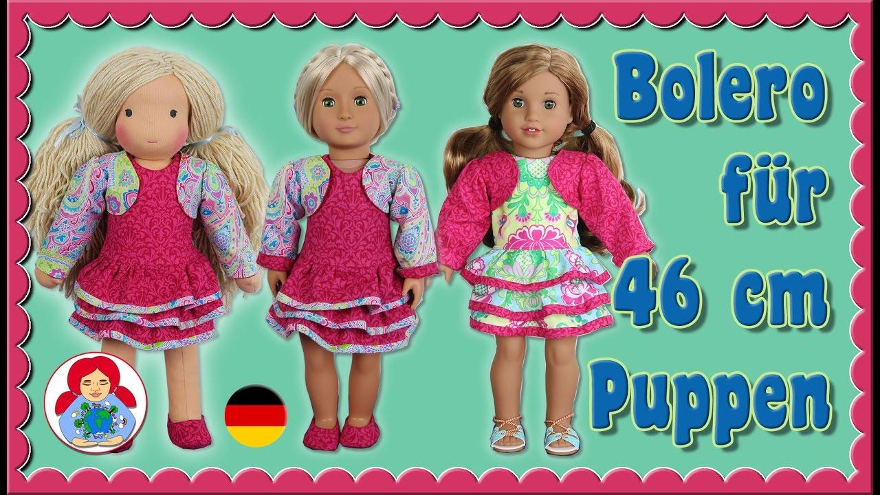 DIY | Bolero für 46 cm Puppen (Amelie, American Girl, Our Generation ...