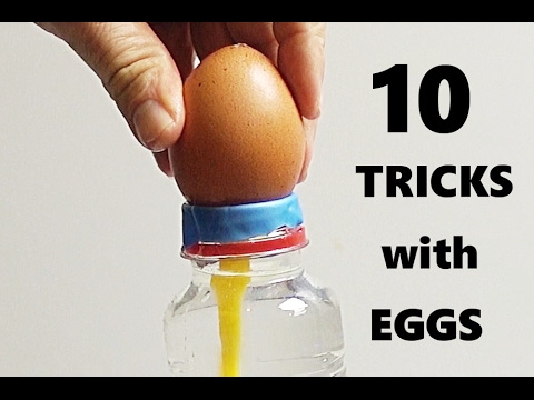 Thumbnail: 10 AMAZING TRICKS WITH EGGS!