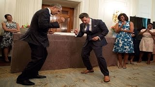 Barack Obama dances like how his jeans look! Let's see how he dance [ Dr ReaLife ]