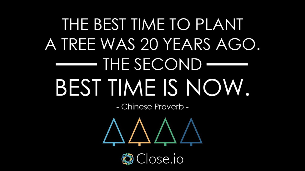 Sales Motivation Quote The Best Time To Plant A Tree Was 20 Years