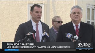 Bi-Partisan Push On For State, Local Tax Deduction Bill