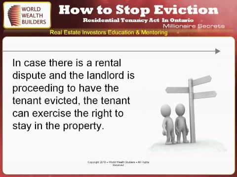 How to Stop Eviction in Ontario Canada