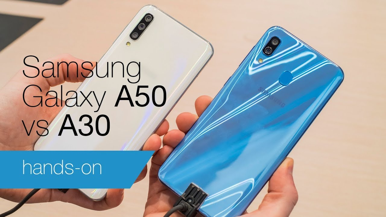 0022602658 Galaxy A50 vs A30 hands-on comparison. Tech Advisor