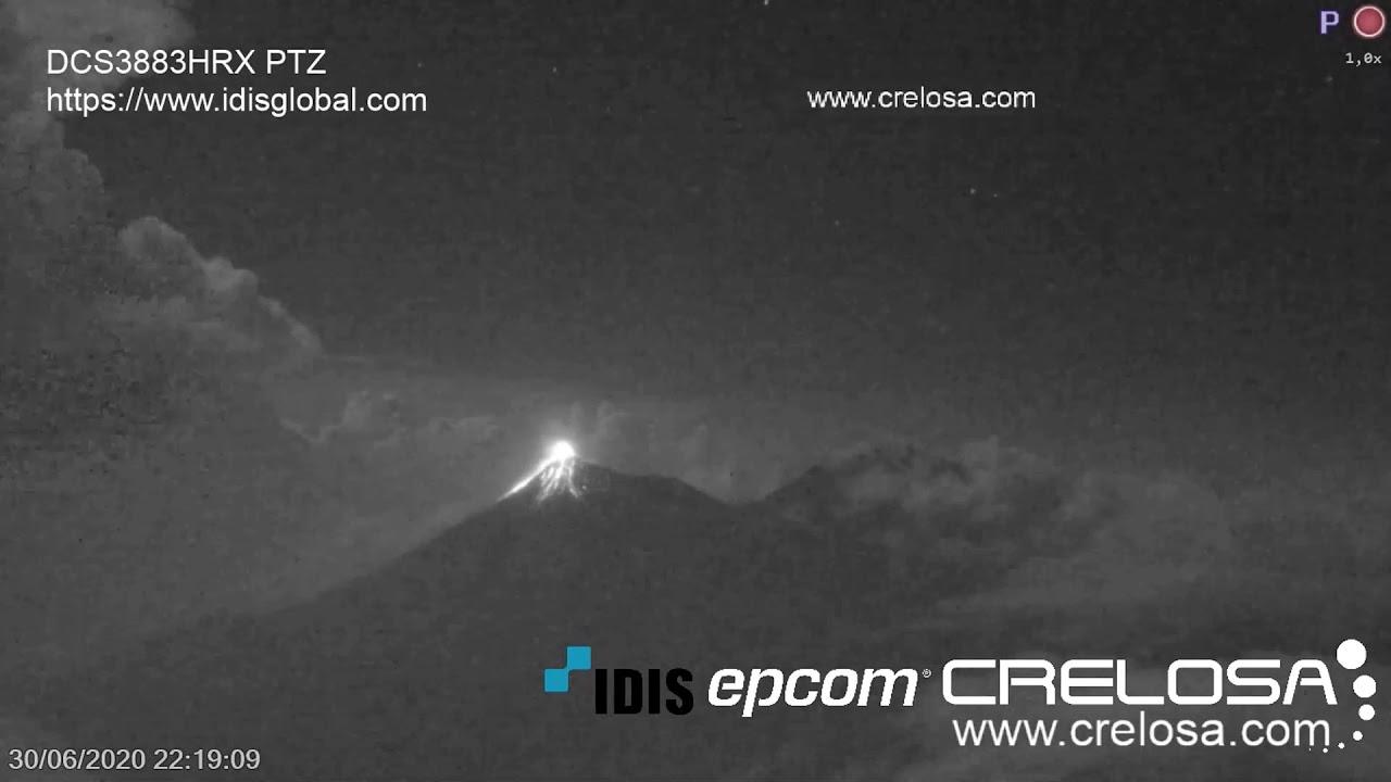 June 30, 2020, ~ Volcan De Fuego ~ Thunderstorm, Lightning, and Eruptions