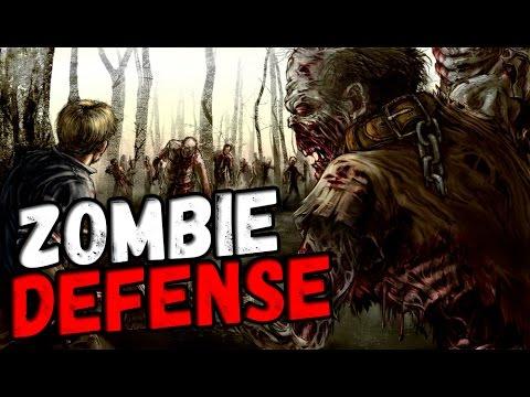 Первый запуск игры Zombie Defense - ЗОМБИ,СТРАТЕГИЯ