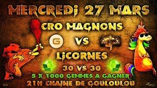 LIVE GDC Communautaire Cro-Magnon vs Licorne   Gouloulou vs Optimus Prime -  Fun & FUN