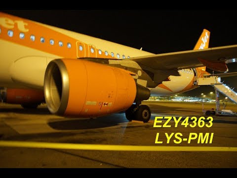 FlightReport EZY4363 Airbus A320 G-EZRH Seat 17A From Lyon To Palma Mallorca