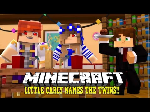 LITTLE CARLY NAMES THE TWINS!! Custom Modded Minecraft Roleplay | w/LittleCarly