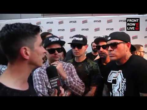 Hollywood Undead Interview on Creating New Album 'V' & Fire Johnny 3 Tears Mid Interview