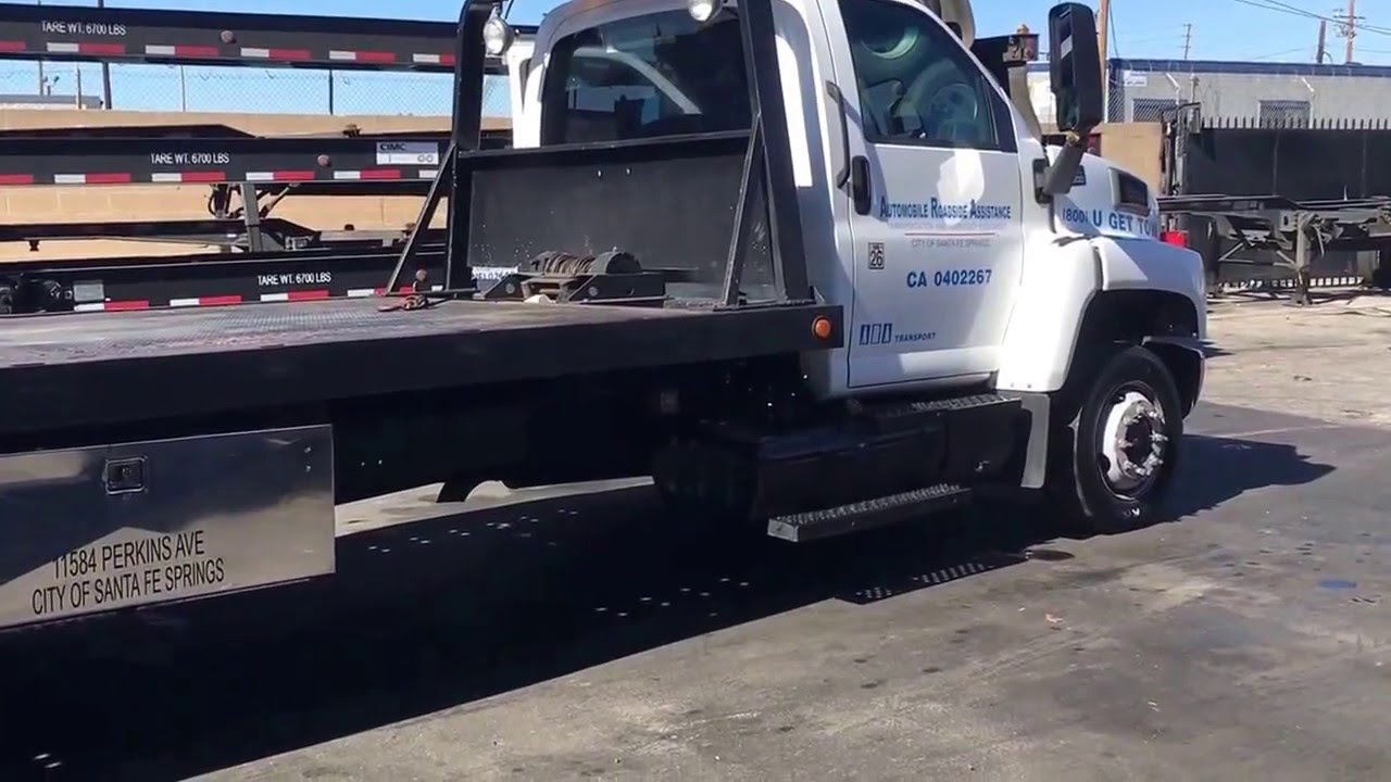 All Chevy chevy c6500 flatbed : 2004 GMC C6500 Flat Bed Tow Truck - YouTube