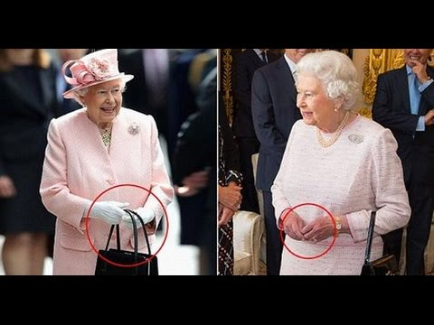 fe04fd1dab39 Queen uses her HANDBAG to send secret signals to her staff - YouTube