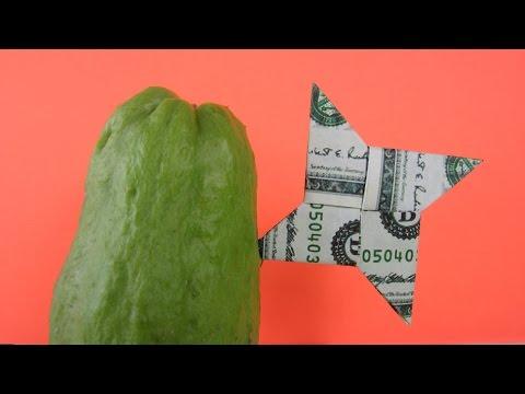 EASY Dollar Bill Origami Ninja Star  Origami money