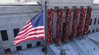 Minneapolis Art Institute's latest exhibit features thousands of life jackets worn by refugees