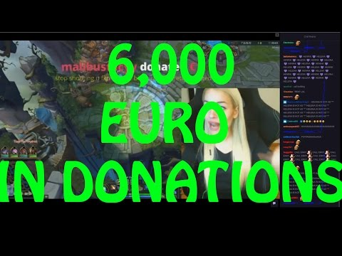 Twitch Girl (Helena) Gets 6k+ EURO IN DONATIONS (for less than 1 hour)