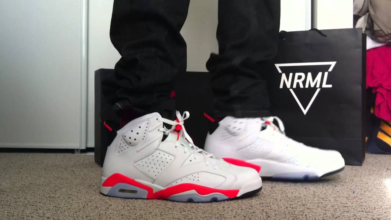 35842d224a45f8 discount code for air jordan 6 black infrared on feet on foot photo 6700c  ab08c  low price youtube premium 1350f 5b951