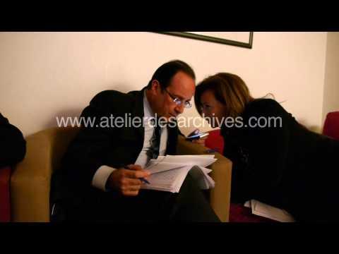 Valérie Trierweiler dans les coulisses du meeting de Rennes