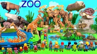 Wild Zoo Animal Toys For Kids - Learn Animal Names and Sounds - Learn About Wild Animals