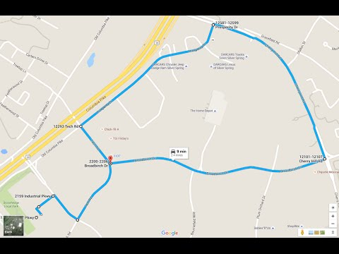 Maryland MVA Driving Test Route (White Oak - Route 1)