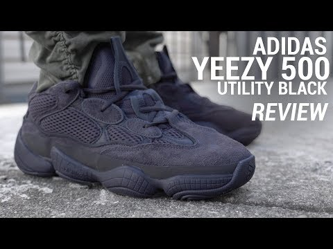 low priced a2a43 5584f ADIDAS YEEZY 500 UTILITY (TRIPLE BLACK YEEZY REVIEW) - YouTube