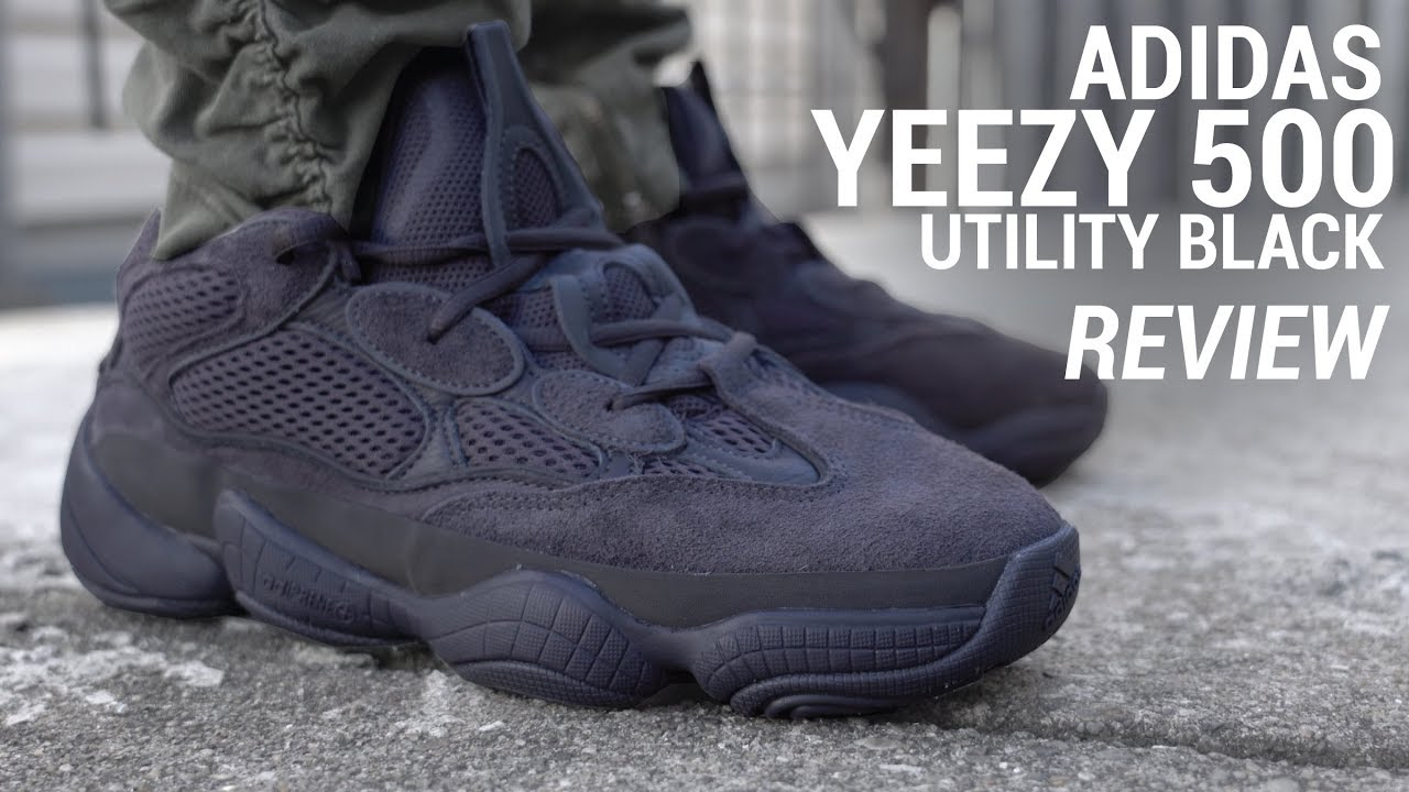 Adidas Yeezy 500 Utility Triple Black Yeezy Review Youtube