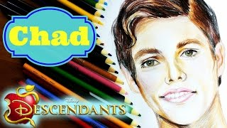 DISNEY DESCENDANTS Learn How to Draw CHAD Speed Drawing
