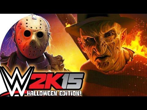 WWE 2K15 / Freddy Vs Jason! (CaRtOoNz Vs H2O Delirious) (Halloween Ladder Match!)