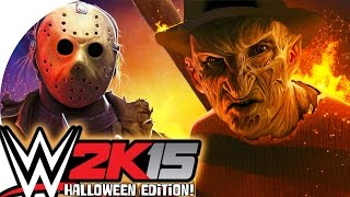 vuclip WWE 2K15 / Freddy vs Jason! (CaRtOoNz vs H2O Delirious) (Halloween Ladder Match!)