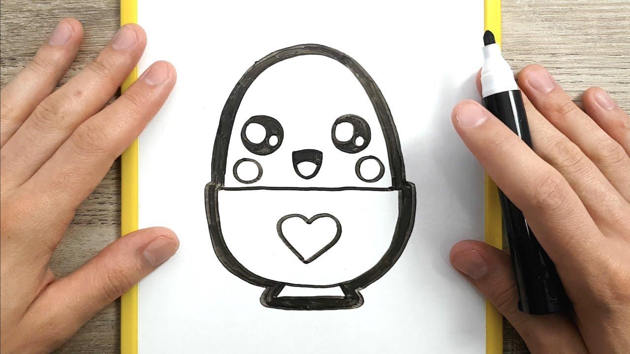 come disegnare un uovo kawaii disegni facili youtube
