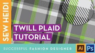 Twill Plaid Patterns In Adobe Illustrator & Photoshop