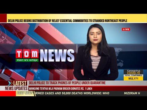 TOM TV 9:00 PM MANIPURI NEWS, 2ND APRIL 2020