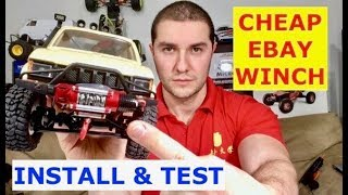 Full Metal Working Winch - Install and Test (will it pull?) For TRX4 or SCX10 or WPL