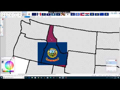 United States - Flag Map Speed Art (States Edition)