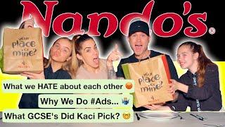 *KACI'S FIRST KISS* NANDOS MUKBANG Q&A