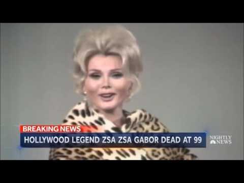 Hungarian-American Actress Zsa Zsa Gabor Died At 99