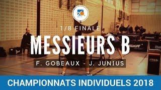 Messieurs B 18 finale J. JUNIUS - F. GOBEAUX