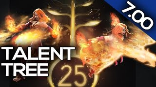 7.00 PATCH UPDATE Dota 2 - HERO LEVELING - HERO TALENT TREE