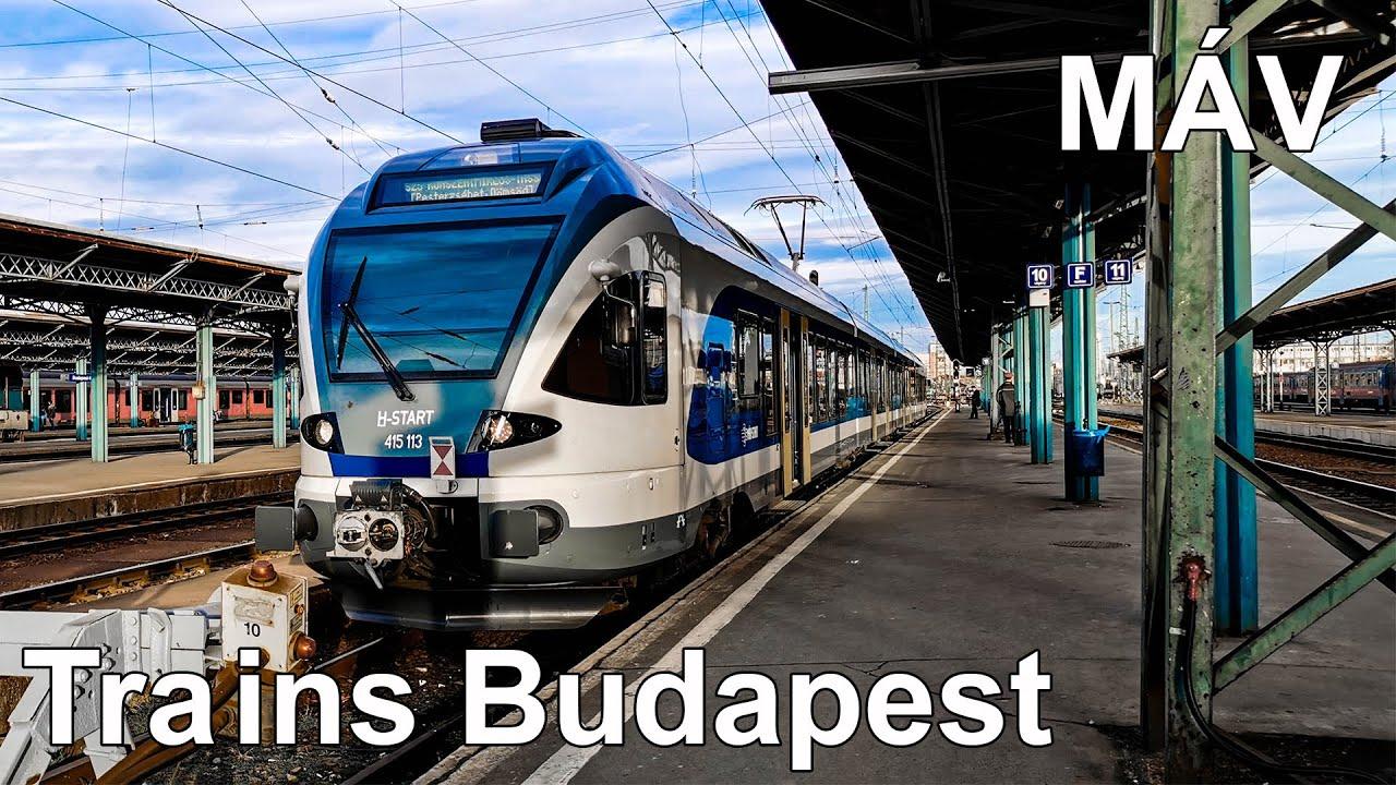 Trains In Budapest Mav Vonatok Budapesten Mav 4k 2020 Youtube