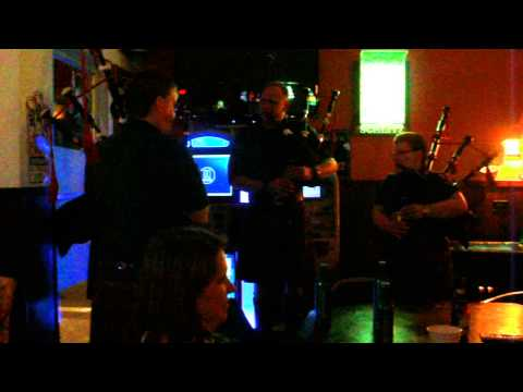 Bag pipers playing at Jerry's bar , Omaha NE 3-16-2013