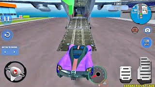 Airplane Pilot Car Transporter Flight Simulator New Update 2020: Cars & Bikes Tr - Android GamePlay screenshot 1